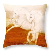 The Andalusians Throw Pillow