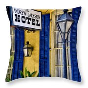 The Andrew Jackson Hotel - New Orleans Throw Pillow