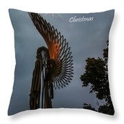 The Angel At Christmas Throw Pillow