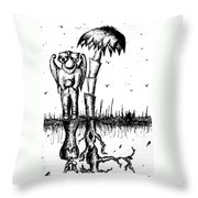 The Angel Is The Devil Throw Pillow