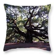 The Angel Oak In Charleston Sc Throw Pillow