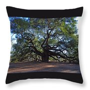 The Angel Oak In Spring Throw Pillow