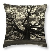 The Angel Oak Throw Pillow