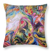 The Angel Of Flowers Throw Pillow