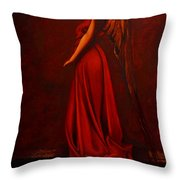 The Angel Of Love Throw Pillow