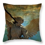 The Angel Of The Last Days Throw Pillow