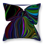 The Angel Of The Rainbow Throw Pillow