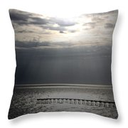 The Angel Speaks Throw Pillow