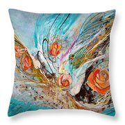 The Angel Wings #10. The Five Roses Throw Pillow