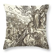 The Angel With The Key To The Bottomless Pit Throw Pillow