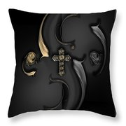 The Angelic Poem Throw Pillow