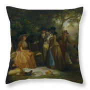 The Anglers Repast Throw Pillow
