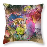 The Angry Father Throw Pillow