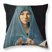 The Annunciation Throw Pillow by Antonello da Messina