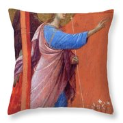 The Annunciation Fragment 1311 Throw Pillow