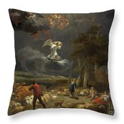 The Annunciation To The Shepherds Throw Pillow