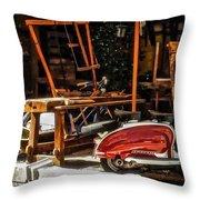 The Antiquarian Throw Pillow