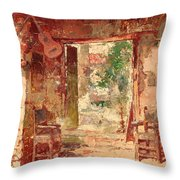 The Antiquarian's Shop Throw Pillow