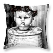 The Antique Doll's Head Throw Pillow
