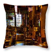 The Antique Store Throw Pillow