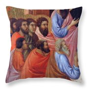 The Apostles Of Maria Fragment 1311 Throw Pillow