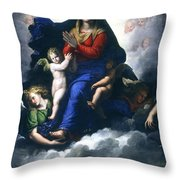 The Apparition Of The Virgin Throw Pillow