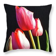 The Appearance Of Spring - Tulips Throw Pillow