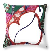 The Apple And Pear Throw Pillow