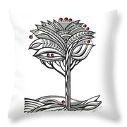The Apple Tree Throw Pillow by Aniko Hencz