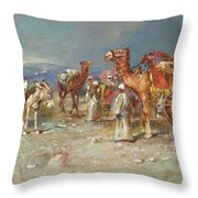 The Arab Caravan   Throw Pillow