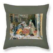 The Arab Scribe Cairo Throw Pillow