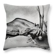 The Arabian Oryx Throw Pillow