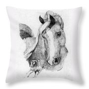 The Arabian Stallion Throw Pillow