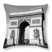The Arc Di Triomph Throw Pillow