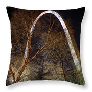 The Arch 3 St Louis Missouri Gateway Arch Art Throw Pillow