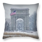 The Arch At Valley Forge Throw Pillow