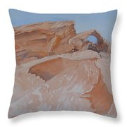 The Arch Rock Experiment - Vi Throw Pillow