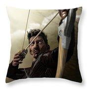The Archer Throw Pillow by Sandra Bauser Digital Art