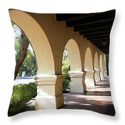 The Arches Mission Santa Ines Throw Pillow