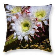 The Argentine Giant Amongts The Yellow Wildflowers Throw Pillow