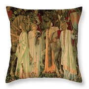 The Arming And Departure Of The Kniights 1894 Throw Pillow