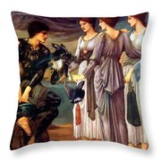 The Arming Of Perseus 1885 Throw Pillow
