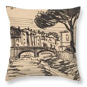 The Arno In The Evening, Florence Throw Pillow