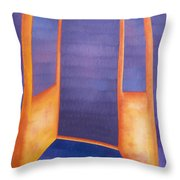 The Arrival Throw Pillow by Judy Henninger