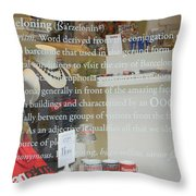 The Art Of Barceloning Throw Pillow