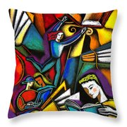 The Art Of Learning Throw Pillow