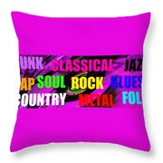 The Art Of Music Pano Work A Throw Pillow