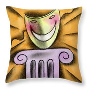 The Art Of Smiling Throw Pillow