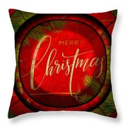 The Art Of Vhristmas Cheer Throw Pillow