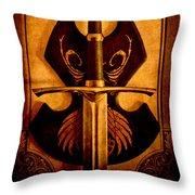 The Art Of War - Eternal Portrait Of A Warrior Throw Pillow